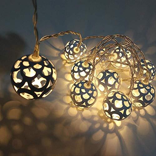 Aa Batterie Metall Eisen Hohlkugel Led String Fairy Light 1,5 Mt 10 Led Globus Weihnachtsfeier Hochzeit Garland Fairy Light
