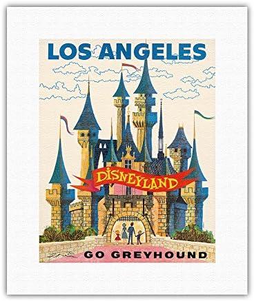 Los Angeles USA - Portland Mall Disneyland Greyhound Line Bus Credence Go