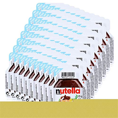 Ferrero Nutella Mini Brotaufstrich Schokolade 15g-Nuss-Nougat-Creme (80er Pack)