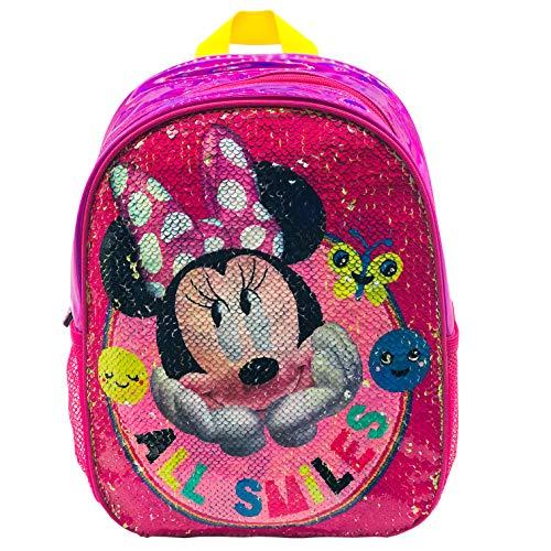 Disney Mochila con Lentejuelas Reversibles, Unisex niños, Multicolor, 24x30x9
