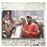 Suuyar Kanye West & Kid Cudi Poster Kunst Seide Poster