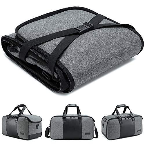BUG Travel Duffel Bag, Large Duffels for Women Men Weekender Bag, Original Integrated Design Foldable Duffel Bags for Gym Sports Business Trip, Waterproof and Luxury Travel Bag