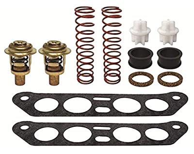 GLM Thermostat Kit for Johnson & Evinrude V4 Crossflow 85 88 90 100 110 112 115 140 hp Replaces 434841, 18-3673 Read Item Description for Applications by GLM