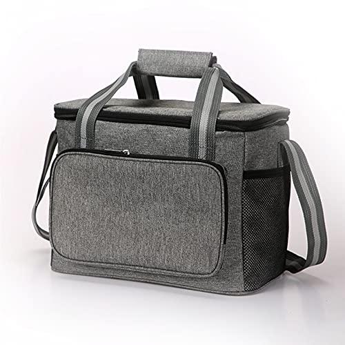 Timertick 14L Bolsa de picnic Bolsa de picnic grande plegable Caja de refrigeración Bolsa térmica Bolsa de picnic para el transporte de alimentos (gris)