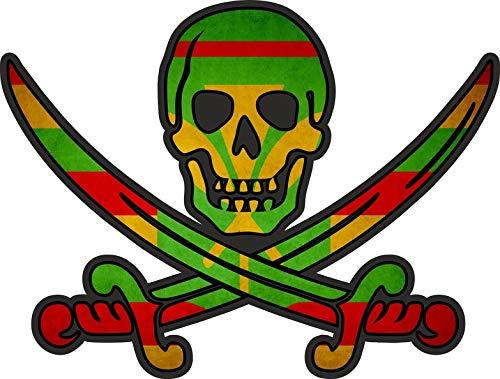Sticker decal vlag jack rackham piraat hawaii kanaka maoli