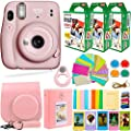 Fujifilm Instax Mini 11 Camera with Fuji Instant Film (60 Sheets) + DEALS NUMBER ONE Accessories Bundle Includes Case, Filters, Album, Lens, and More (Blush Pink) from DEALS NUMBER ONE + FUJIFILM
