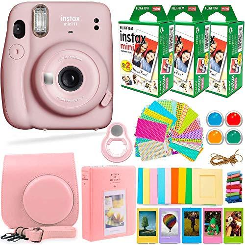 Fujifilm Instax Mini 11 Camera Blush Pink & Accessories Bundle