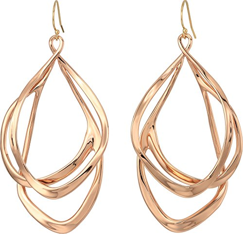 Alexis Bittar Women's Liquid Gold Orbiting Wire Earrings Rose Gold One Size