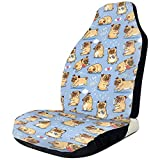 Fall Ing I Love Pugs Funny Graphic Protector de fundas de asiento delantero negro