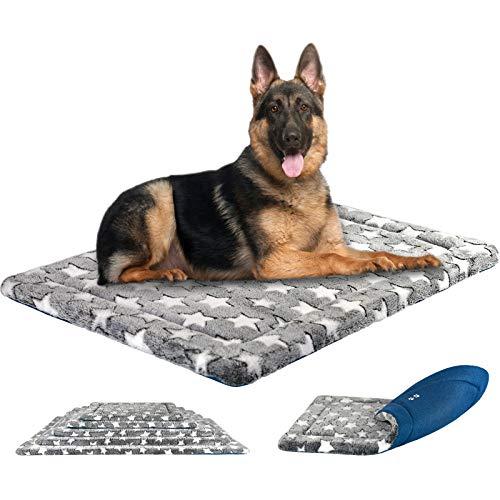 KROSER Hundematte 122CM Stilvolles Haustiermatte Wende Bettbettmatte (Warm und Kühl) Weiches Hundebett Schaumstoff mit hoher Dichte Waschbar Haustierbett für Große Hunde bis zu 110 Pfund MEHRWEG