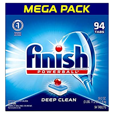 Finish All In 1, Dishwasher Detergent - Powerball - Dishwashing Tablets - Dish Tabs, Fresh Scent, 94 Count Each from Reckitt Benckiser