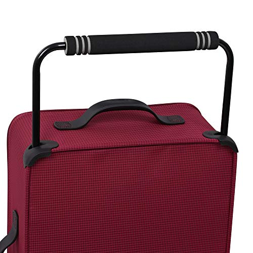 IT Luggage 21.8' World's Lightest Los Angeles 2 Wheel Carry On, Persian Red
