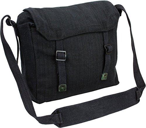 Pro Force Highlander Army Travel Shoulder Military Combat Day Bag Messenger Satchel Canvas Surplus Haversack Black