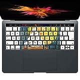 igsticker MacBook PRO 15inch 2016 ~ 専用 キーボード用スキンシール キートップ ステッカー A1990 A1707 Apple マックブック エア ノートパソコン アクセサリー 保護 015850 月見 十五夜 うさぎ
