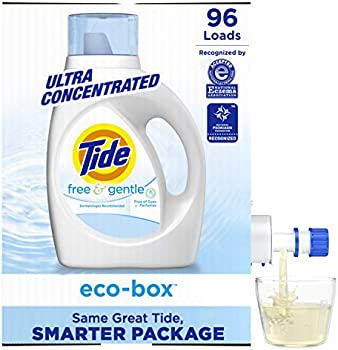 96-Load Tide Free and Gentle Eco-Box Liquid Laundry Detergent Soap