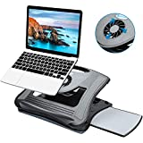 HUANUO Adjustable Lap Desk with Cooling Fan, Fits 15.6 Inch Laptops, Comfortable Laptop Desk Stand...