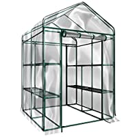 8 DURABLE SHELVES-The 8sturdy shelves provide plenty of room for trays, pots, or planters of anything you want to grow. It's a convenient option for any gardener! INDOOR OUTDOOR-This versatile greenhouse is ideal for both indoor and outdoor use; k...