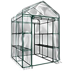 8 DURABLE SHELVES- The 8 sturdy shelves provide plenty of room for trays, pots, or planters of anything you want to grow. It's a convenient option for any gardener! INDOOR OUTDOOR- This versatile greenhouse is ideal for both indoor and outdoor use; k...