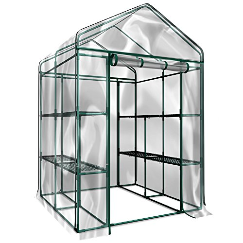 Home-Complete HC-4202 Walk-In Greenhouse- Indoor Outdoor with 8 Sturdy Shelves-Grow Plants,...
