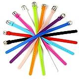 20pcs Mix Colors 8mm Adjustable Blank Silicone Bracelet Strap Slide Wristbands/Bracelets for 8mm Slide Letters,Jewelry Making Charms-DIY Supplies