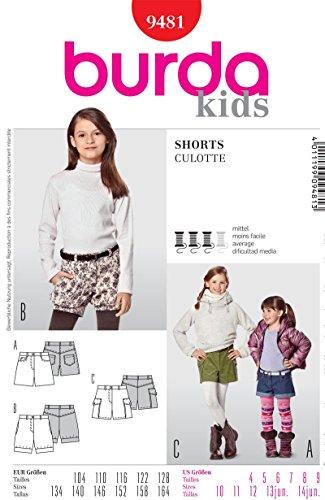 Burda Schnittmuster 9481 Shorts - Bloomers Gr. 104-128