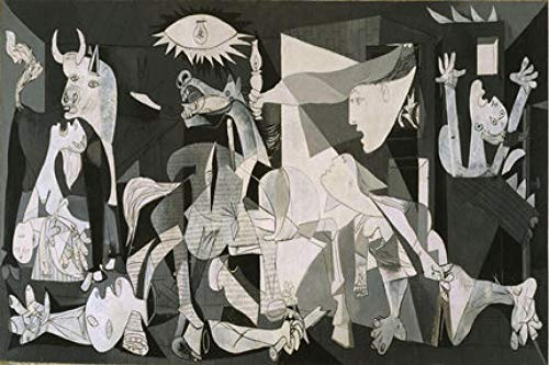 Eskuel Jigsaw Puzzle for Adults Kids 1000 Pieces Guernica Wooden Brain Teaser Family Puzzles Educational Games Toy Sharp Brain Zone Quality Recycled Material Fit Together Perfectly