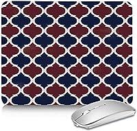 ステッチエッジ付きレトロモロッコパターンマウスパッドマット、作業および家庭用ゲーム用に耐久性のある滑り止め防水ラバーベース付き長方形ワークマウスパッド10x12in-Moroccoohy5399-8.3x10.3in
