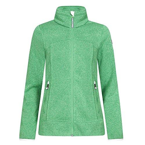 Icepeak Liv Fleece Strickjacke für Damen, Farbe:Grün, Damen Größen:44