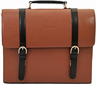 6cee974ac11 RASHKI Men Tan and Black Laptop Bag 15 Inch ALTA 100% Genuine Vegan Leather  Bag