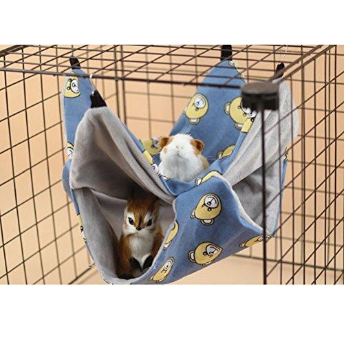 Stock Show - Cama para Mascotas con Cama Doble de algodón y Forro Polar Suave para ratón, Chinchilla, Rata, Ardilla, hámster y Conejillo de Indias