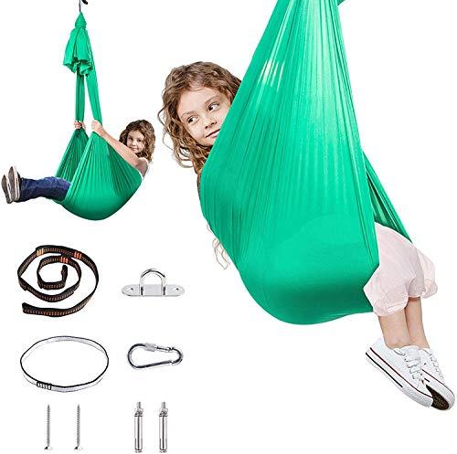 Silla Columpio Hamaca Terapia Swing para niños adultos-Indoor Sensor Swing Hamaca para niños (hardware incluido) Con necesidades especiales, Snuggle Colgando Abrazar hamaca para autismo, TDAH, Síndrom