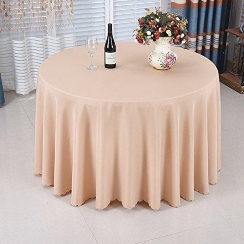 Nappe européenne Nappe Ronde - Solide Couleur/Table à Manger/Cuisine / Nappe Hôtel/Fête Réunion Naturelle Peau Respirante Naturelle 160 Cm (Couleur : E, taille : Round- 160cm)