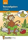 Textaufgaben 3. Klasse, A5- Heft: Sachaufgaben - Übungsprogramm mit Lösungen für die 3. Klasse