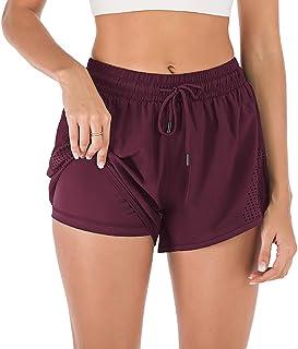 iClosam Pantalones Deportivo Corto Mujer,Pantalón Algodón para Deportes Yoga Casual Gimnasio Ejercicio Playa S-XXL