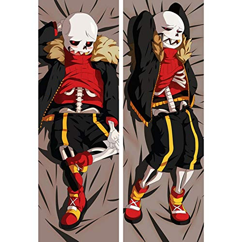 FUTYE Anime Game Role Skeleton Boy Girl Cosplay Pillow Cover Cool Male Hugging Body Pillowcase Dakimakura Double Side Printed Pillow Case Otaku Gifts Home Decor for Living Room 50x150cm(19.6x59inch)