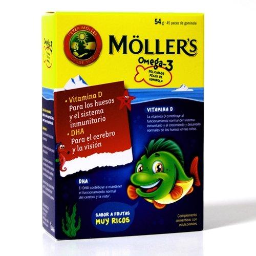 MOLLERS aceite de hígado de bacalao omega3, 45 peces de gominola