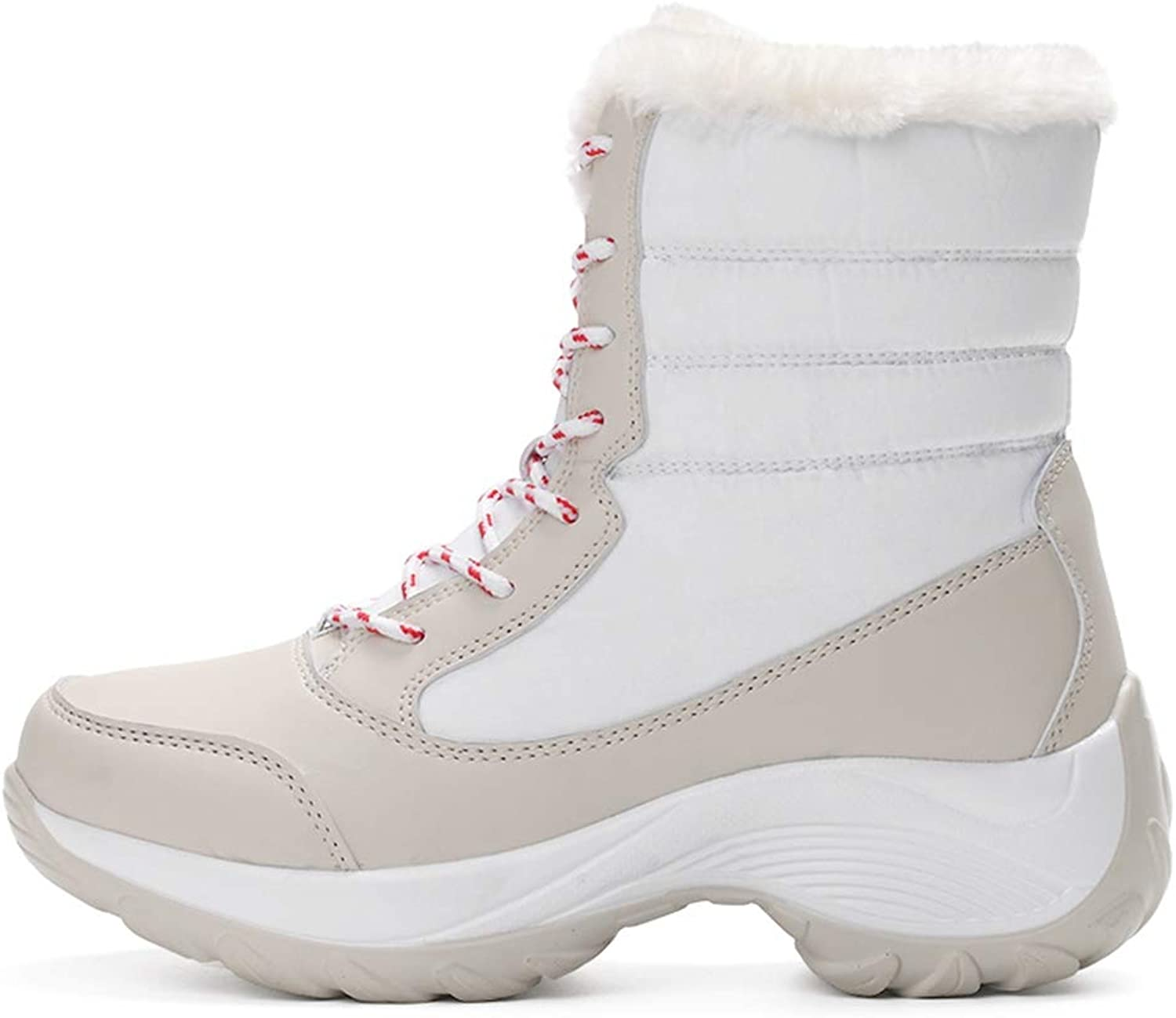 Hoxekle Women Winter Snow Boot Thick Platform Waterproof Warm Female Boots Non-Slip Round Toe Casual Outdoor Ankle Boots