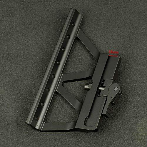 XBF-AirGuns, Tactical Schnell Detach AK Side-Schienen-Bereich-Einfassungs-Unterseite Picatinny-Schienen-Montage for AK 47 AK 74 Jagd-Gewehr-Bereich-Gewehr-Zubehör (Farbe : Schwarz)