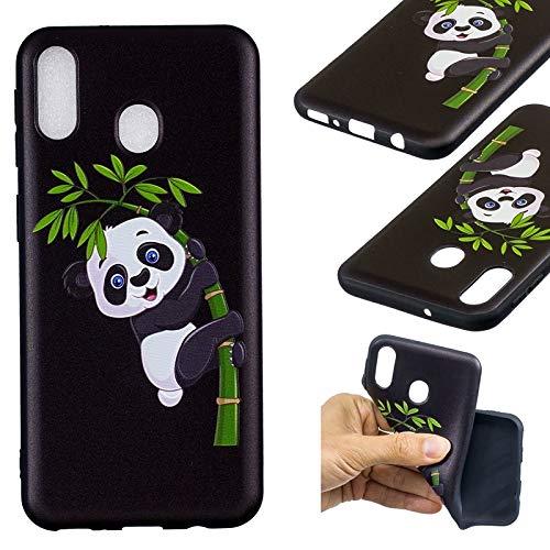Zhanying pour Samsung Galaxy M20 Fleurs De Mode Panda Papillon Hibou Motif Relief Doux TPU Design De Mode Silicone Cas De Protection Anti-Slip Anti-Scratch (Couleur : 2)