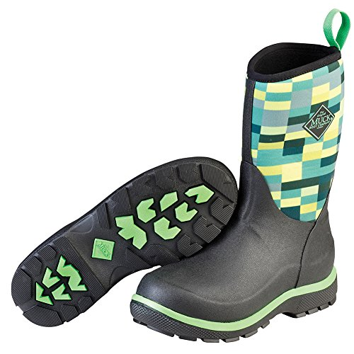 Muck Boot Kid's Element Waterproof Boots, Black, Neoprene, Rubber, Fleece, 3 Little Kid M