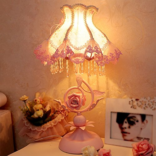 Bonne chose lampe de table Lamp Bedroom Pastoral Style Lampe de chevet Chambre pour enfants Princess Room Wedding Gift Décorations de lampe de table