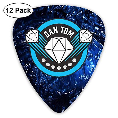 Dan Tdm Logo Sampler Guitar Picks - 12 Pack Complete Gift Set For Guitarist Best Gift For Guitarist
