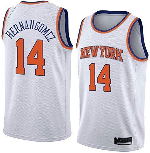 Jersey de Baloncesto de los Hombres NBA New York Knicks 14# Willy Hernangomez Classic Teléfono Transpirable Clásico Retro Moda Vestima sin Mangas Camiseta (Color : A, Size : X-Large)