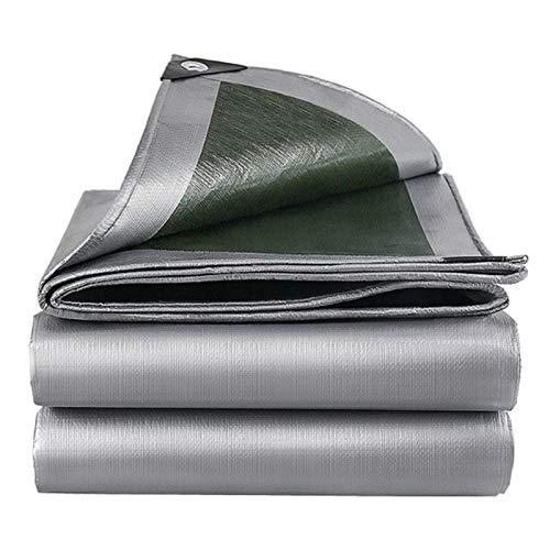 SFGSA Lona impermeable resistente al agua, resistente al desgarro, protección antienvejecimiento, aislamiento de PE para muebles de jardín, piscina, coche, camión, 3 x 6 m