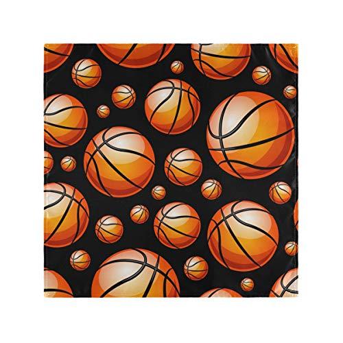 Servilletas de tela reutilizables para cena, juego de 4 servilletas de mesa de baloncesto de gran tamaño, 50,8 x 50,8 cm, lavables a máquina, servilletas de tela para fiesta de cumpleaños