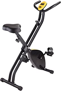 Yescom Foldable Magnetic Exercise Bike Folding X Bike Cardio Fitness Workout Bicycle Cycling Machine Gym Home