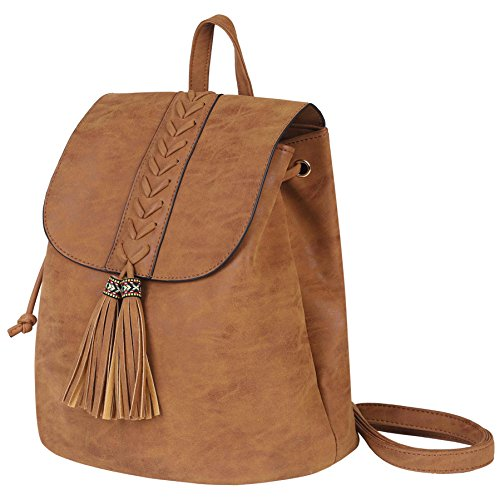Zaino Donna,Bohemian Girls Rucksack Ricamato Fashion PU morbido per viaggiare Shopping Holiday Party Partito