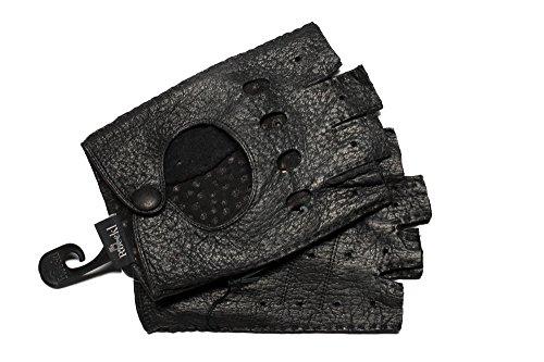 Roeckl Herren Halbfingerhandschuhe schwarz Gr. 9