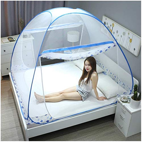 Filets de pliage Pop-Up-Yurt Moustiquaire insectifuges écran Nets vers le bas avec deux ouvertures, facile à installer Convient for Voyage, Camping