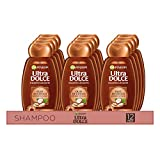 Garnier Multi Pack Ultra Dolce Shampoo Olio di Cocco e Burro di Cacao per Capelli Crespi, 300 ml, Confezione da 12